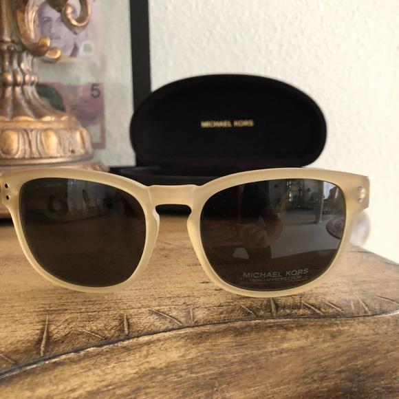 New Michael Kors Sunglasses Gold Martin Square UV